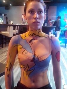 Body painting Pop art 3 couple soirée défilé