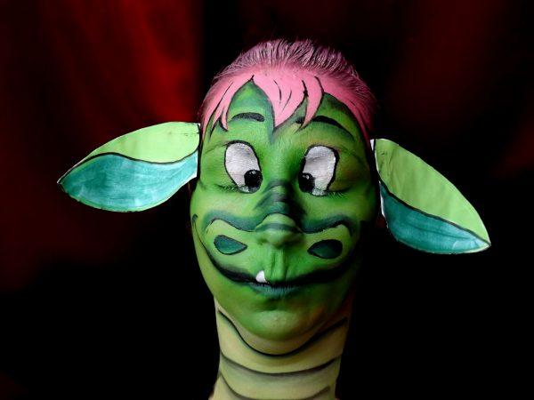 Face painting Peter et Eliott le dragon Disney