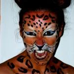 Le léopard face painting animal tâches félin