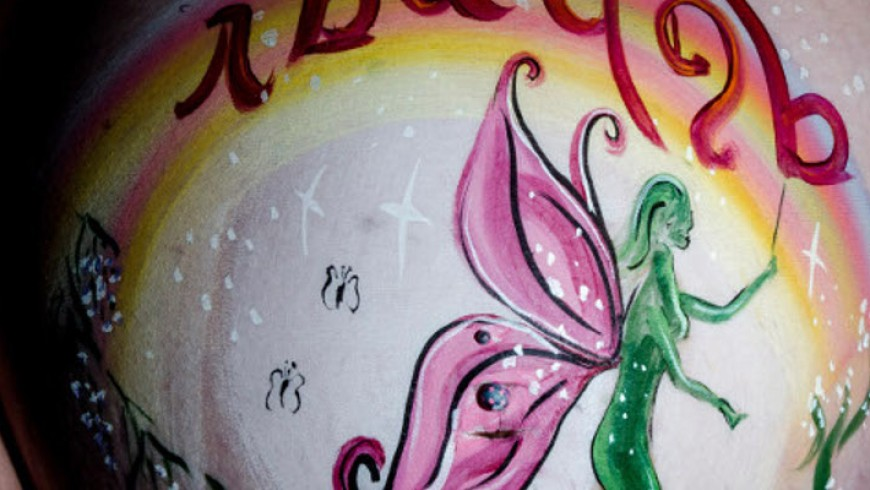 Belly painting Fée